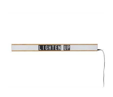 Zuiver Lamp Lightbox Saber blanc, 120x4x10cm plastique brun