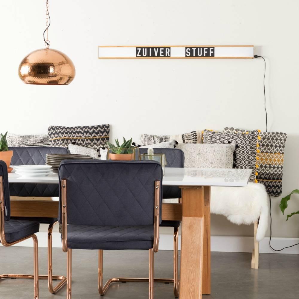zuiver lampe lightbox saber wei braun kunststoff. Black Bedroom Furniture Sets. Home Design Ideas