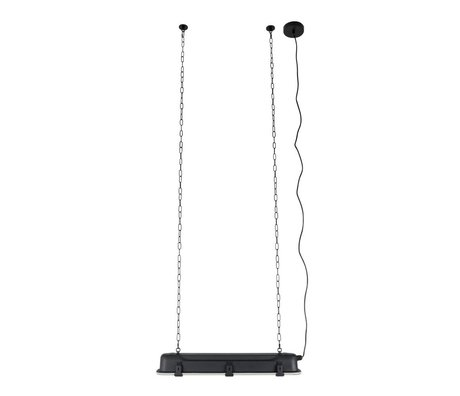 Zuiver GTA colgante de luz negro, metálico negro 70x14x10cm