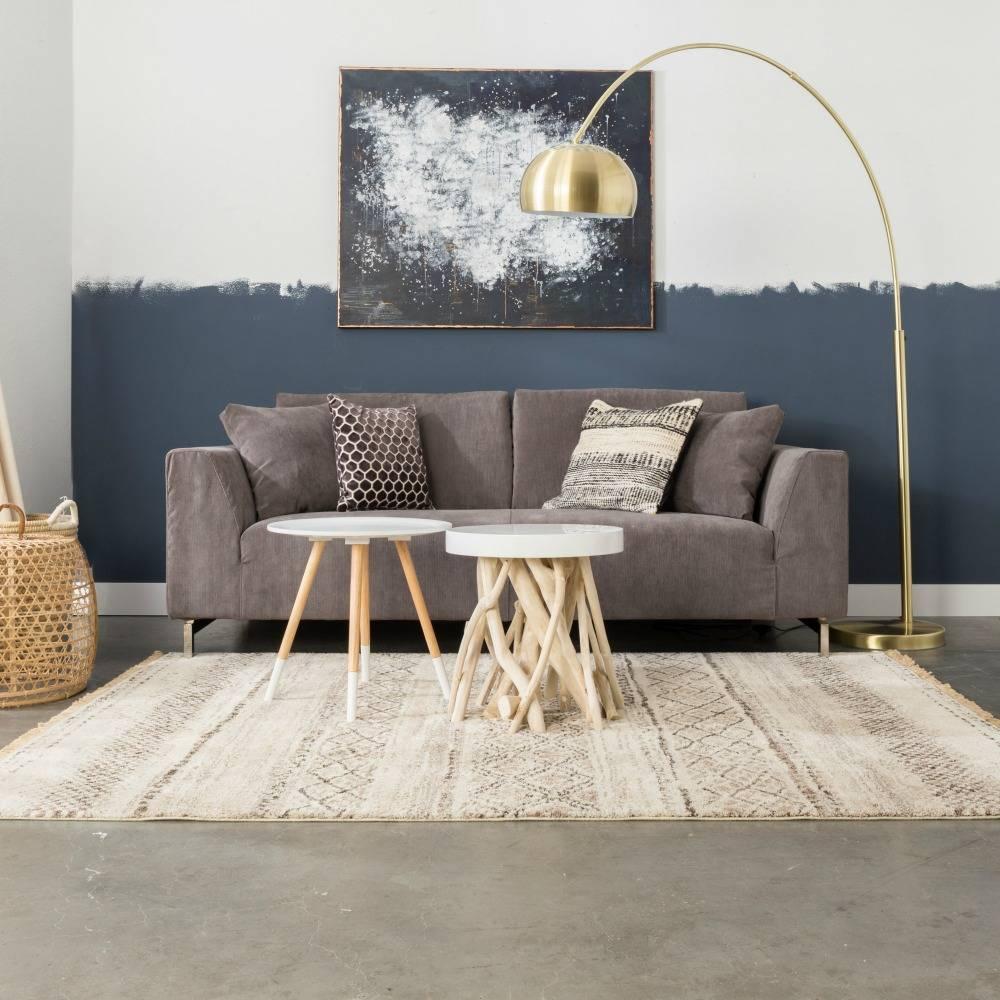 zuiver stehlampe aus metall bogen messing gold 190 205cm. Black Bedroom Furniture Sets. Home Design Ideas