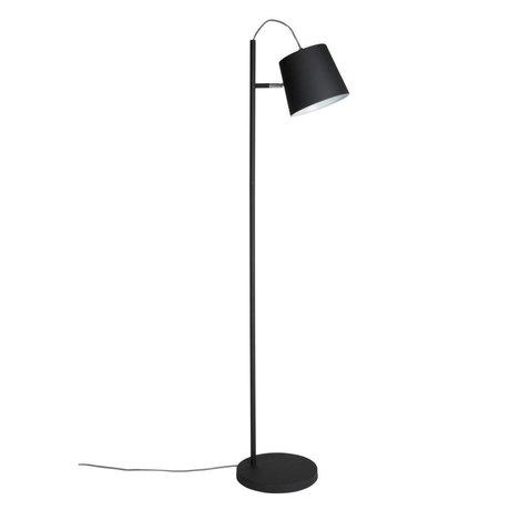 Zuiver Lámpara de pie la cabeza de la hebilla de metal negro 150cm negro