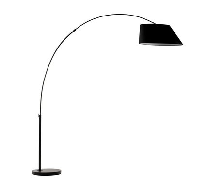 Zuiver Arc gulvlampe black metal sort 215cm
