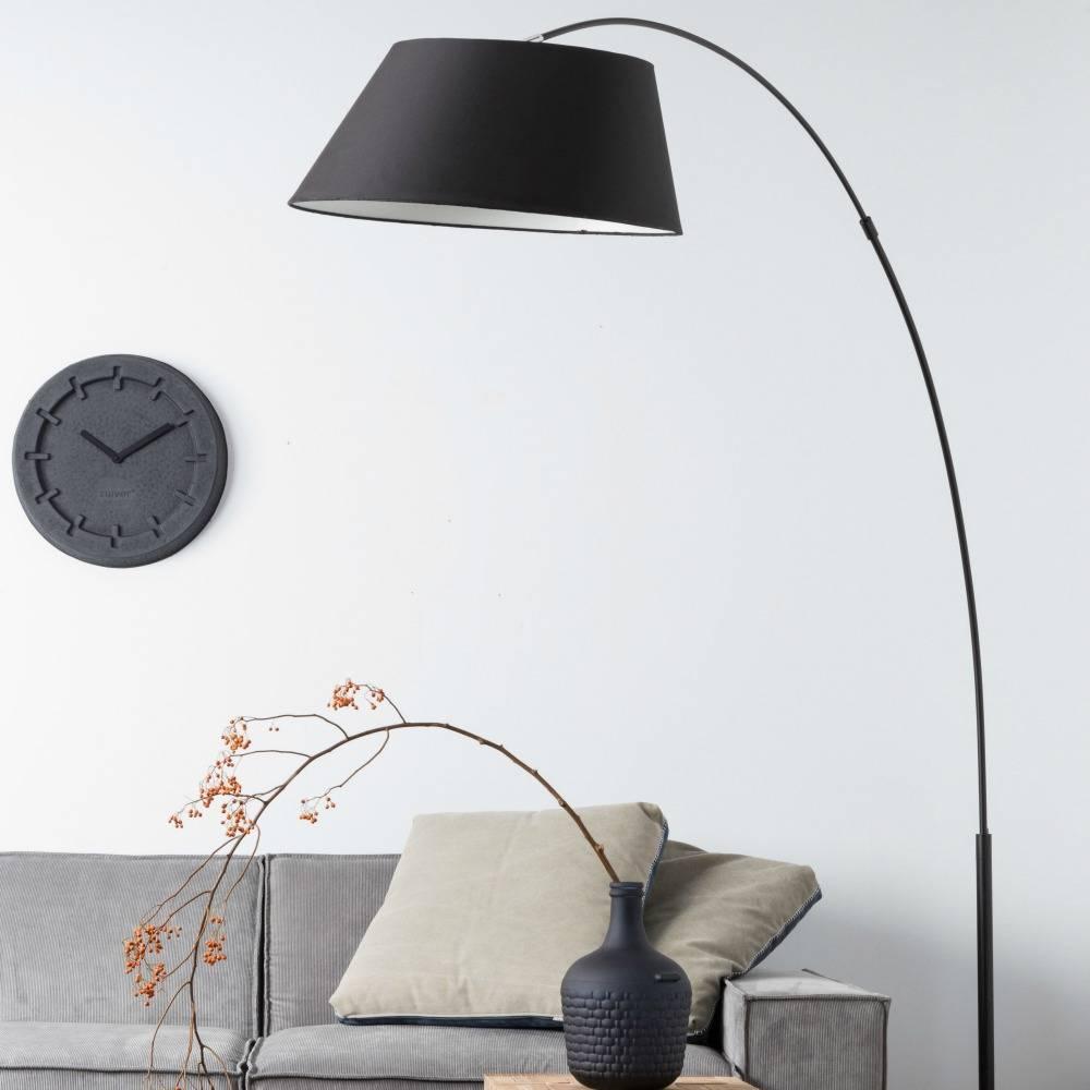 zuiver arc stehlampe schwarz metall schwarz 215cm. Black Bedroom Furniture Sets. Home Design Ideas