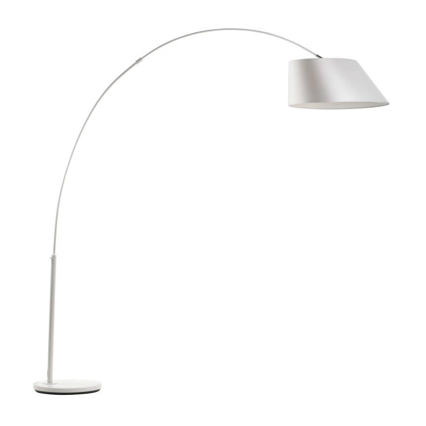 Zuiver Arc lampada da terra bianca, metallo bianco 215 centimetri ...