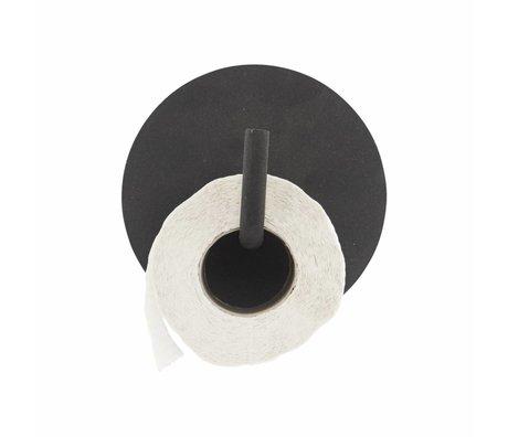 Housedoctor Porte-rouleau WC texte aluminium ø13x12.5cm noir