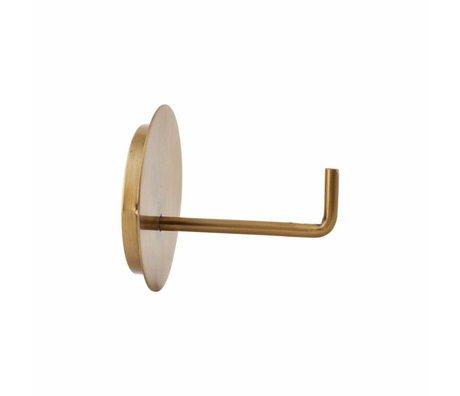 Housedoctor Toilettes Porte-rouleau en aluminium texte ø13x12.5cm or