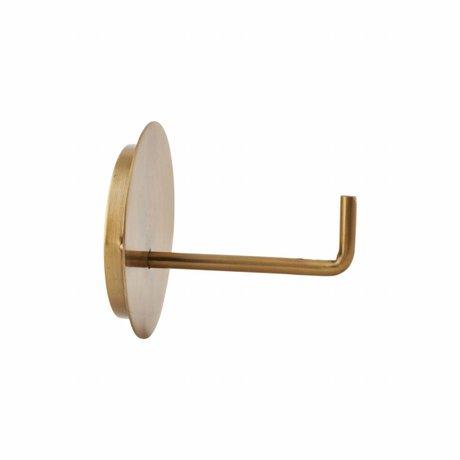 Housedoctor Toilettenpapierhalter Text Aluminium Gold ø13x12.5cm