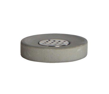 Housedoctor Seifenschale Zement, grau ø11x2,5cm