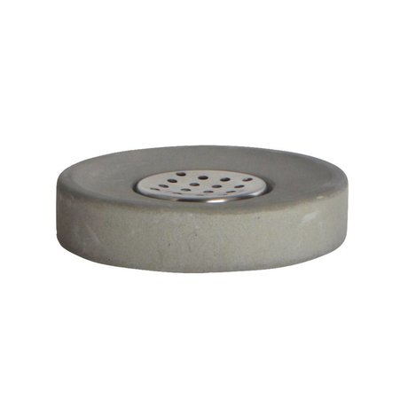 Housedoctor Soap dish cement, gray ø11x2,5cm