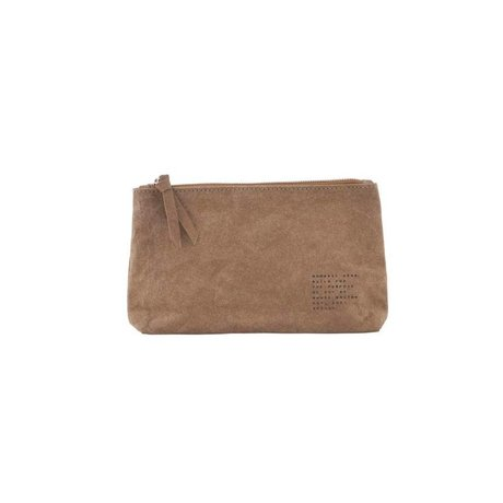 Housedoctor Makeup bag Nomadic Kraft olive 20x12x3,5cm
