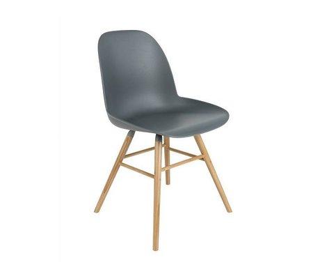Zuiver silla de comedor Albert Kuip madera plástica gris oscuro 62x56x61cm