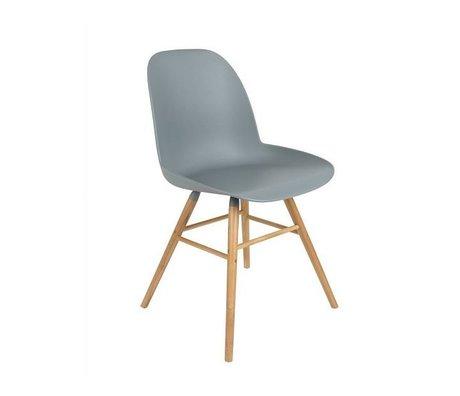 Zuiver silla de comedor Albert Kuip madera plástica de color gris claro 62x56x61cm