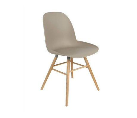 Zuiver silla de comedor Albert Kuip madera plástica marrón 62x56x61cm