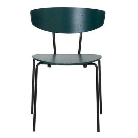 Ferm Living Spisebordsstol Herman mørkegrøn metal 50x74x47cm