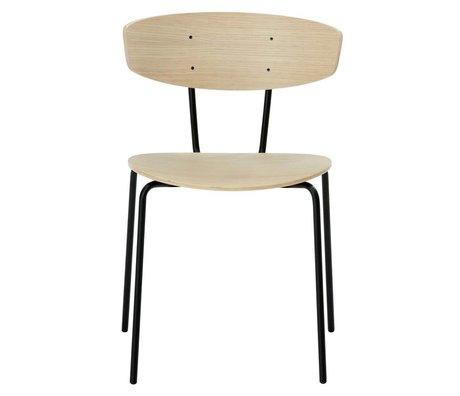 Ferm Living Cena de la silla Herman 50x74x47cm marrón Madera Metal