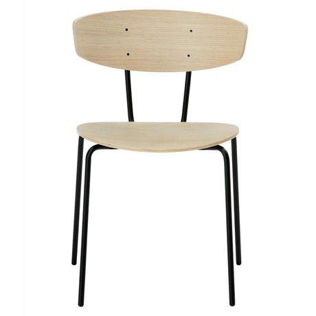 Ferm Living Yemek sandalye Herman kahverengi 50x74x47cm Ahşap Metal