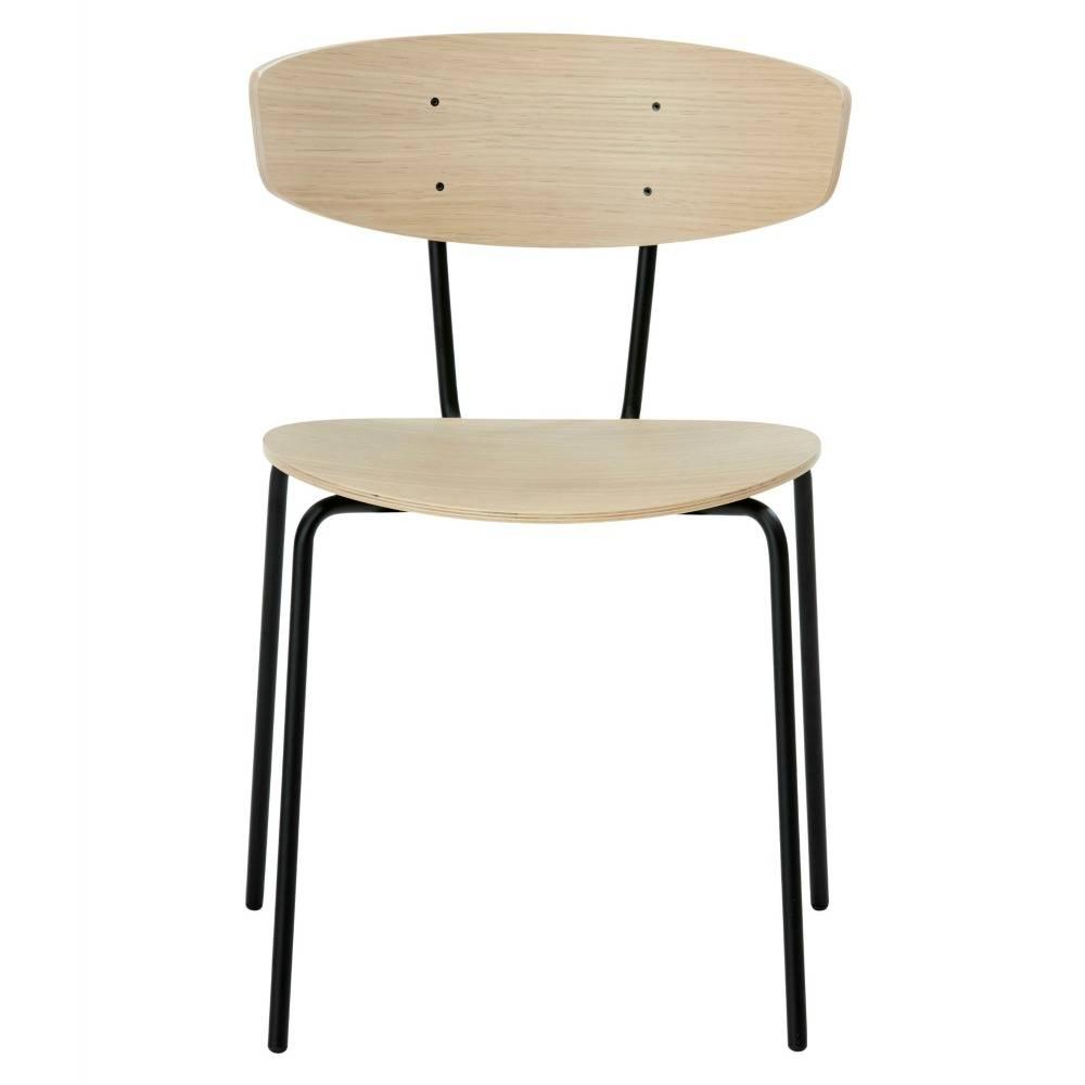 ferm living esszimmerstuhl herman braun holz metall. Black Bedroom Furniture Sets. Home Design Ideas