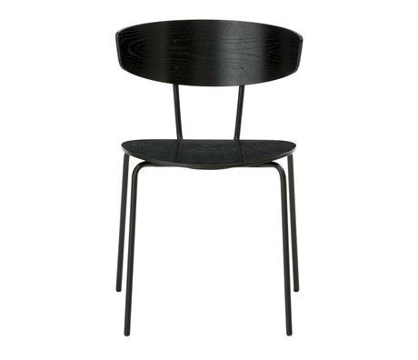 Ferm Living Cena de la silla de metal negro Herman 50x74x47cm madera