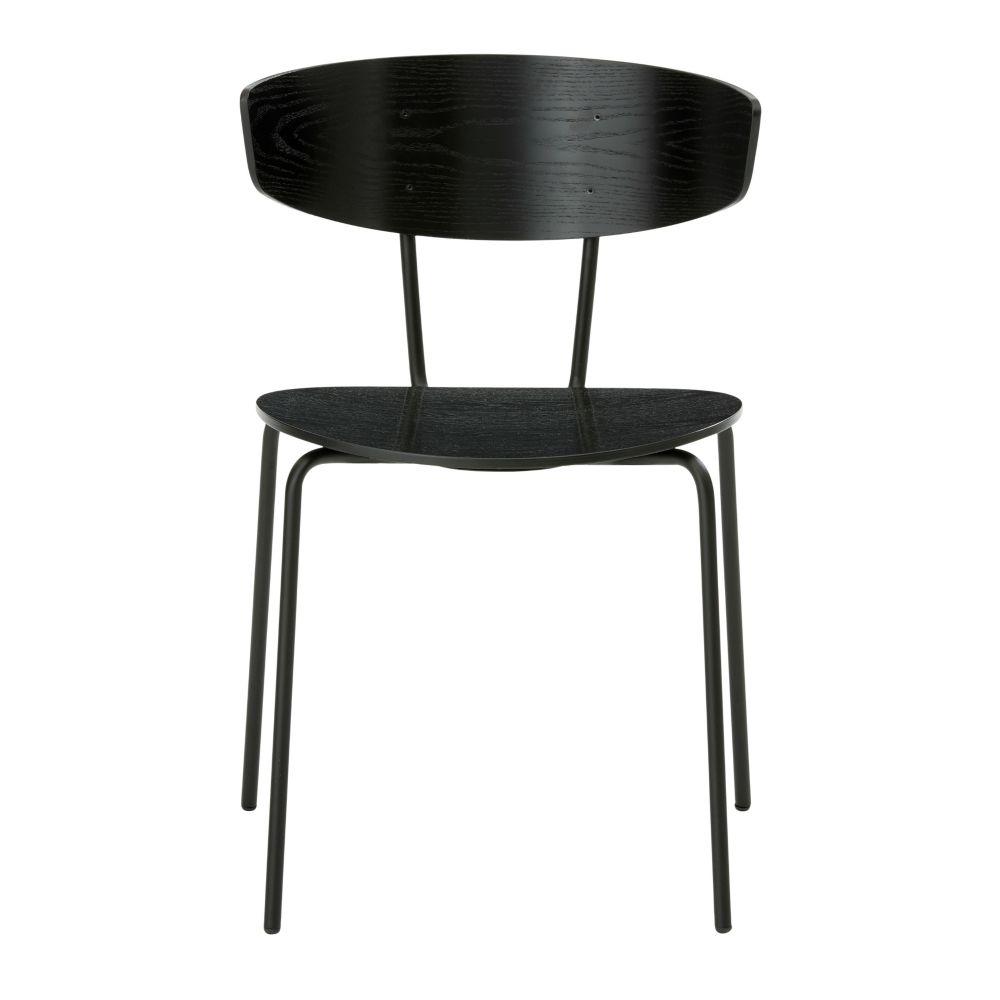 Ferm Living Cena de la silla de metal negro Herman 50x74x47cm madera ...