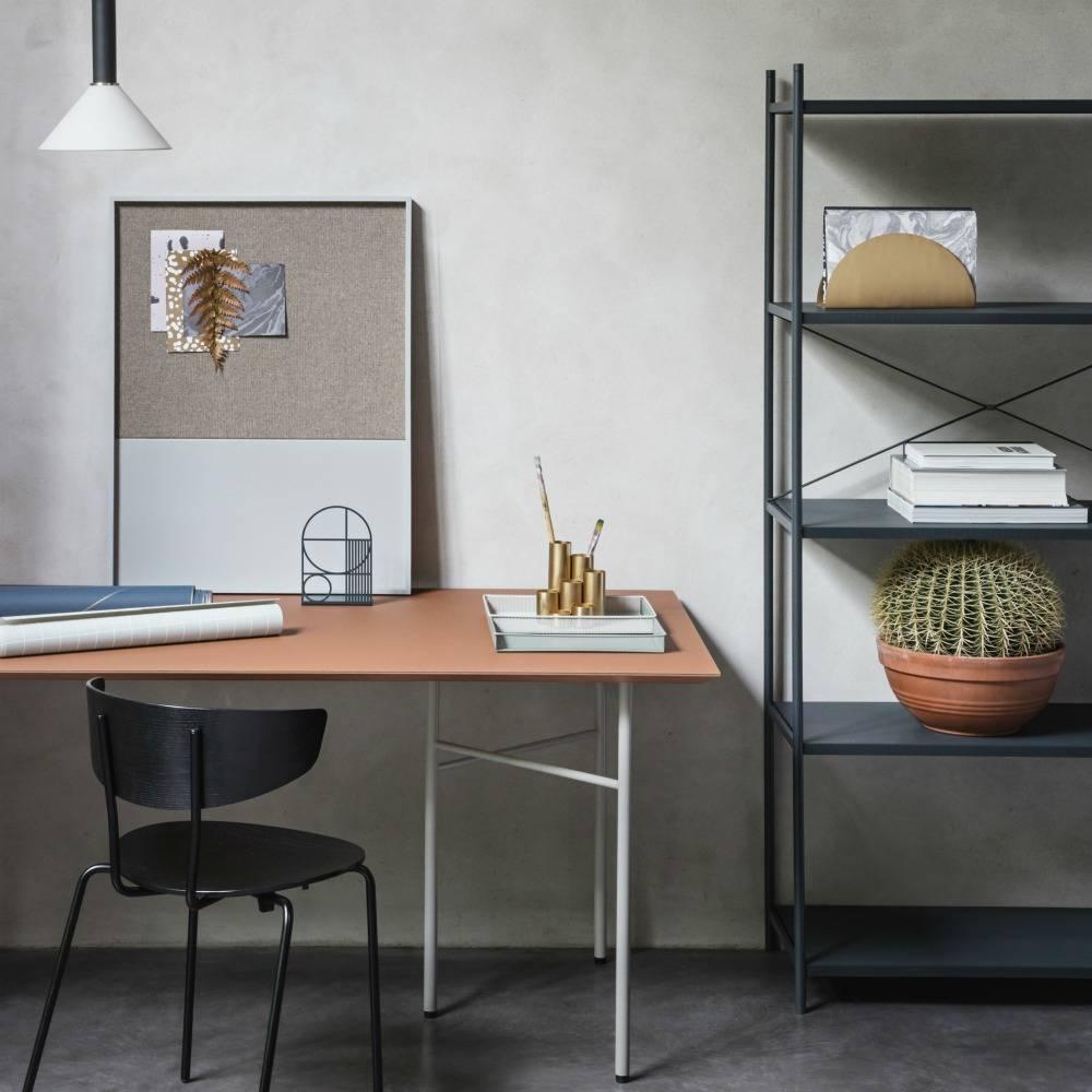 Ferm Living Salle à manger chaise Herman métal noir 50x74x47cm bois ...