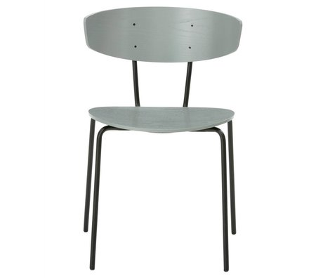 Ferm Living Cena de la silla Herman metal gris madera 50x74x47cm