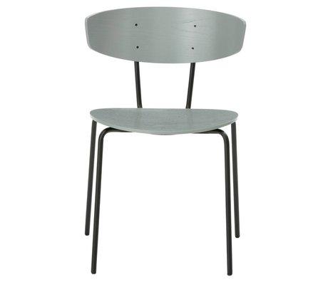 Ferm Living Spisebordsstol Herman grå metal træ 50x74x47cm