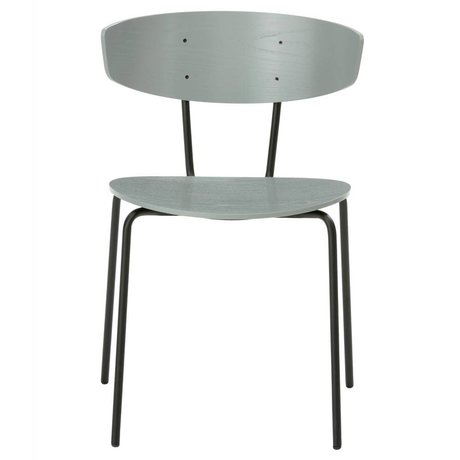 Ferm Living Yemek sandalyesi Herman gri metal ahşap 50x74x47cm