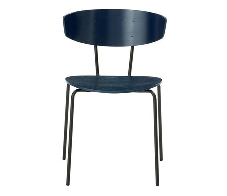 Ferm Living Yemek sandalye Herman lacivert 50x74x47cm Ahşap Metal