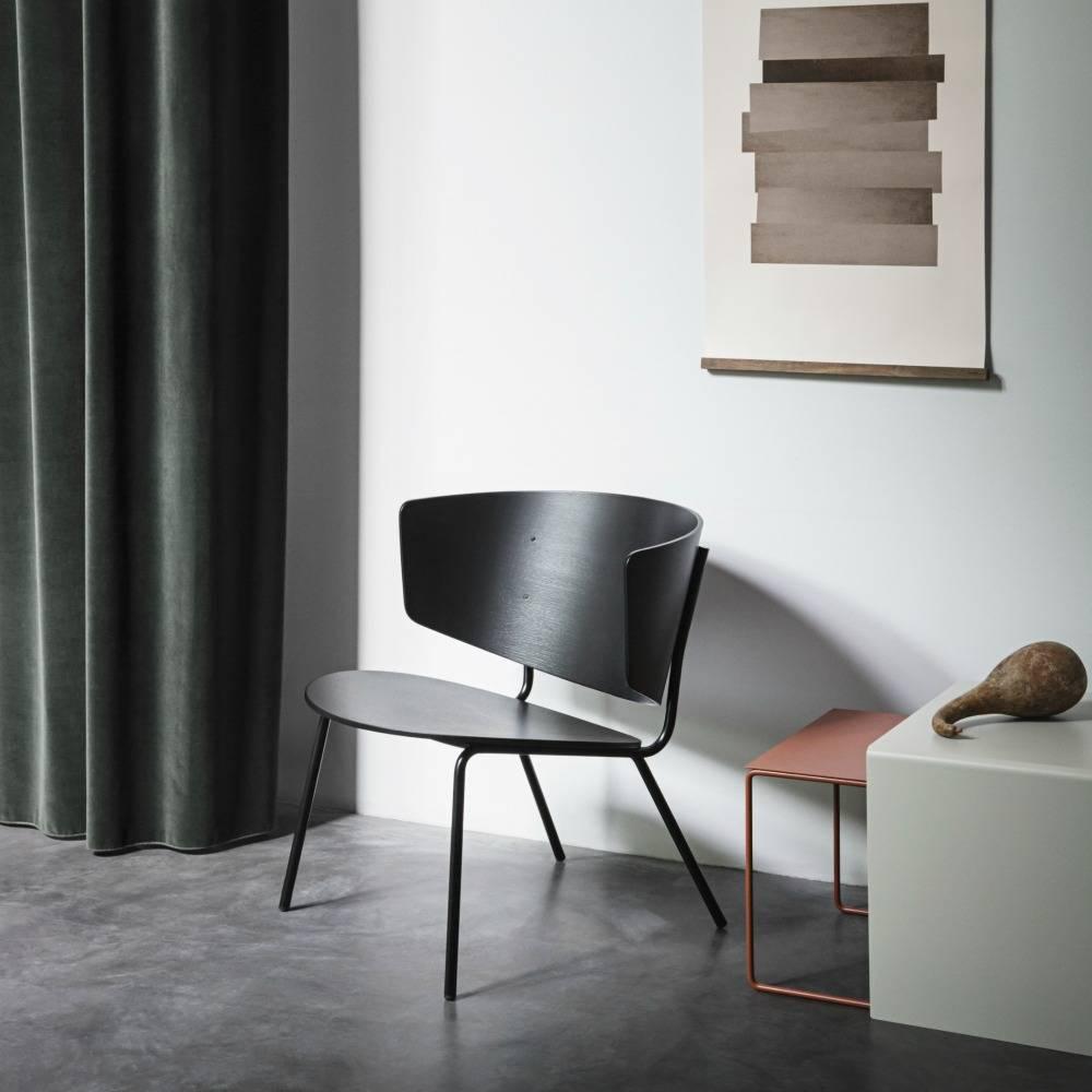 ferm living lounge chair herman schwarz metall holz. Black Bedroom Furniture Sets. Home Design Ideas