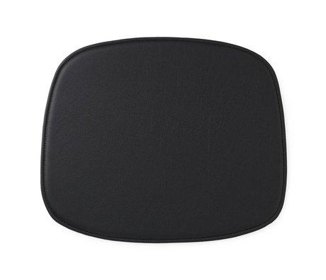 Normann Copenhagen Seat cushion shape black leather 46x39x1cm