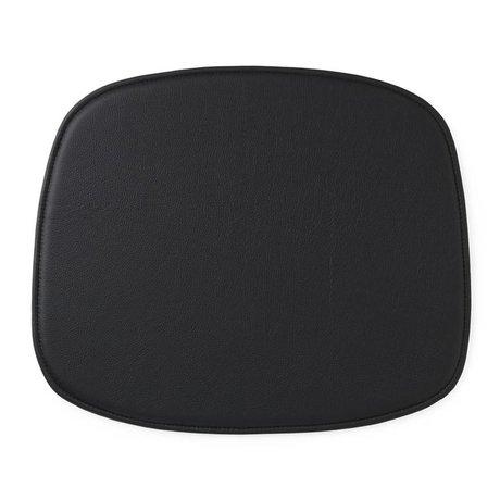 Normann Copenhagen cojín del asiento forma 46x39x1cm cuero negro
