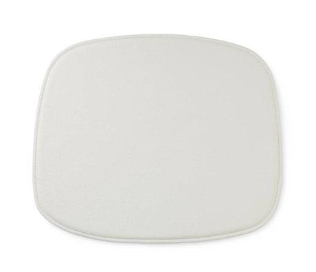 Normann Copenhagen Sædehynde form hvid læder 46x39x1cm