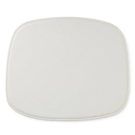 Normann Copenhagen Forma Cuscino di seduta in pelle bianca 46x39x1cm