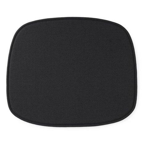 Normann Copenhagen 46x39x1cm forma de asiento textil negro