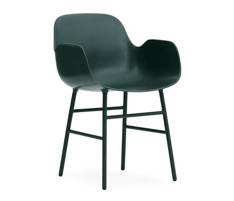Normann Copenhagen acero 56x52x80cm plástico verde forma Lehnstul