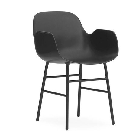 Normann Copenhagen acero 56x52x80cm plástico negro forma Sillón