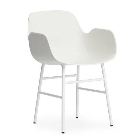 Normann Copenhagen Koltuk beyaz parçalar plastik 56x52x80cm çelik