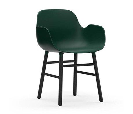 Normann Copenhagen Sillón forma 56x52x80cm verde madera de plástico negro