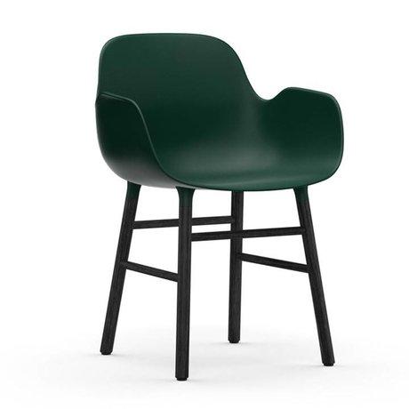 Normann Copenhagen Lænestol form 56x52x80cm grøn sort plast tømmer