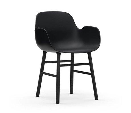Normann Copenhagen Fauteuil forme bois plastique noir 56x52x80cm