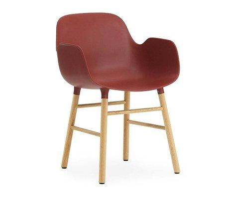 Normann Copenhagen Lænestol form 56x52x80cm rød brun plast tømmer