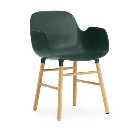 Normann Copenhagen Lænestol formular grøn brun plast 56x52x80cm tømmer
