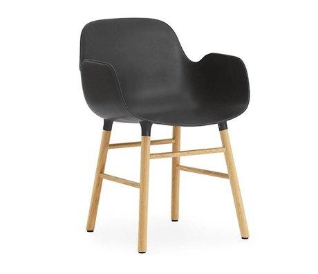 Normann Copenhagen Fauteuil forme brun noir plastique 56x52x80cm bois