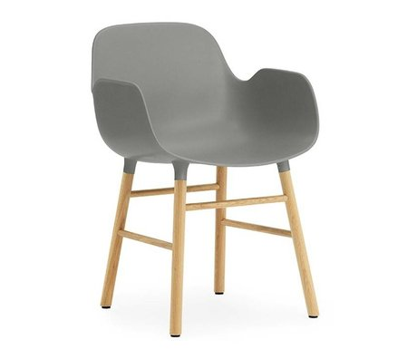 Normann Copenhagen Armchair Form gray brown plastic wood 56x52x80cm