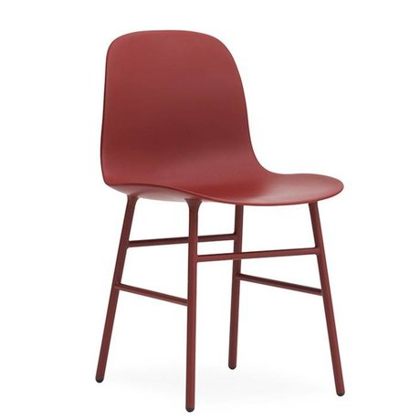 Normann Copenhagen Chair shape red plastic steel 48x52x80cm