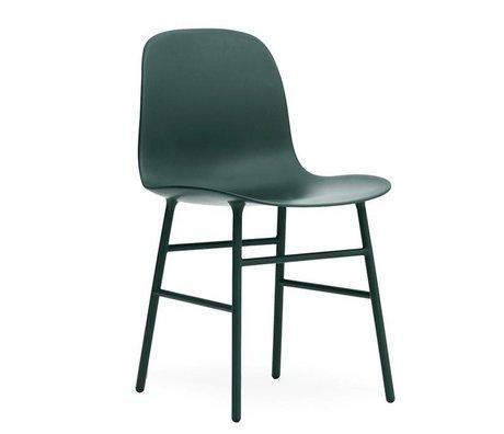 Normann Copenhagen Skammel formular grøn plastik 48x52x80cm stål