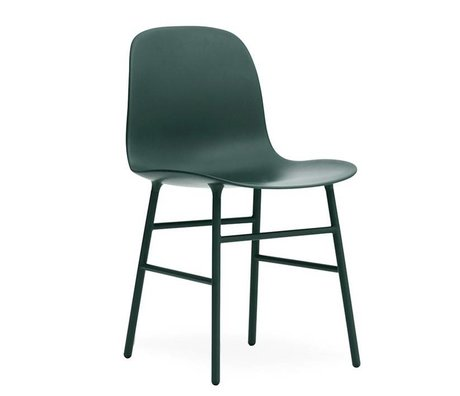 Normann Copenhagen Stuhl Form grün Kunststoff Stahl 48x52x80cm