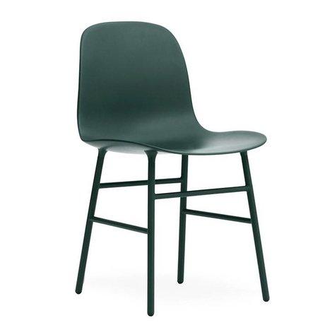 Normann Copenhagen Chair shape green plastic steel 48x52x80cm