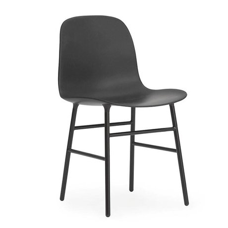 Normann Copenhagen Chair shape black plastic steel 48x52x80cm
