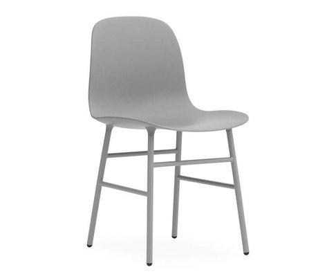 Normann Copenhagen Stuhl Form grau Kunststoff Stahl 48x52x80cm